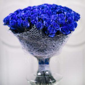 Букет 101 синяя роза