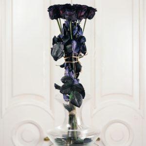 Букет 10 черных роз