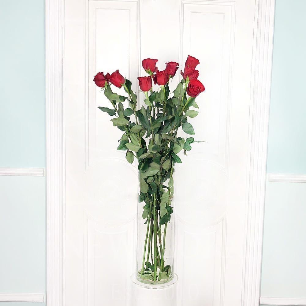 Букет 15 красных роз высотой 110см