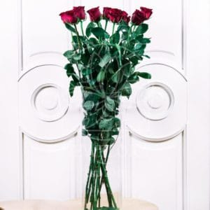 Букет 11 красных роз высотой 100см