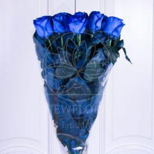 Букет 11 синих роз (Premium)