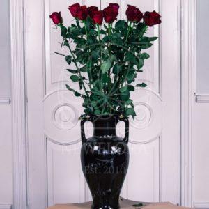 Букет 15 красных роз высотой 130см