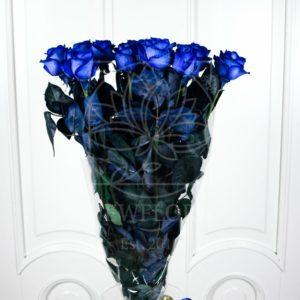 Букет 15 синих роз