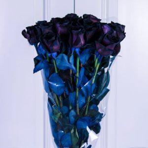 Букет 19 черных роз