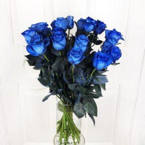 Букет 19 синих роз (Premium)