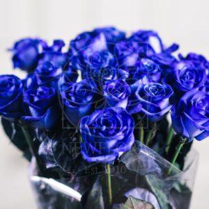 Букет 21 синяя роза