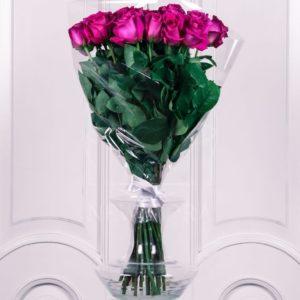 Букет 25 розовых роз 60см сорт Pink Floyd (Юж. Америка)