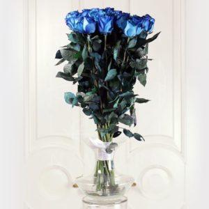 Букет 25 голубых роз (Premium)