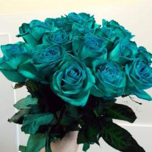 Букет 19 изумрудных роз