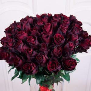 Букет 51 бордовая роза (Explorer)