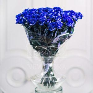 Букет 51 синяя роза