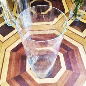 Стеклянная напольная ваза-цилиндр (70×25см)