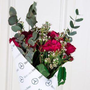 Букет 7 кустовых пионовидных роз Mercedes