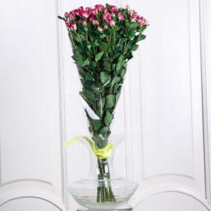 Букет 9 двухцветных кустовых роз