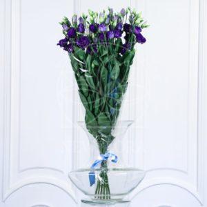 Букет 9 синих лизиантусов (эустома)