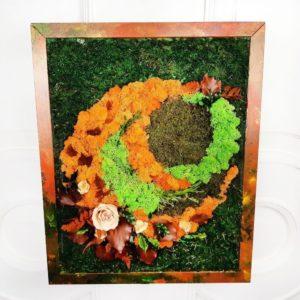 Авторская картина из цветного стабилизированного мха 45×55см