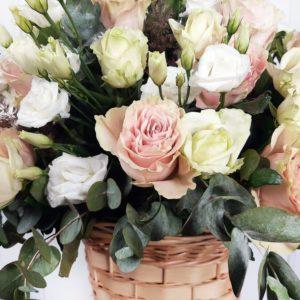 Корзина цветов (По заказу от BABOCHKA для Прима-балерины Мариинского театра Алины Сомовой)