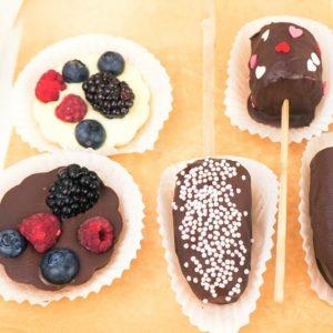 Тарталетки с ягодами в шоколаде