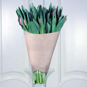 Букет 51 красный тюльпан
