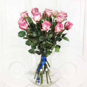 Букет 15 ароматных роз Pink Ohara