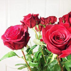Букет 25 красных роз высотой 160см (заказчик Сергей Рост)