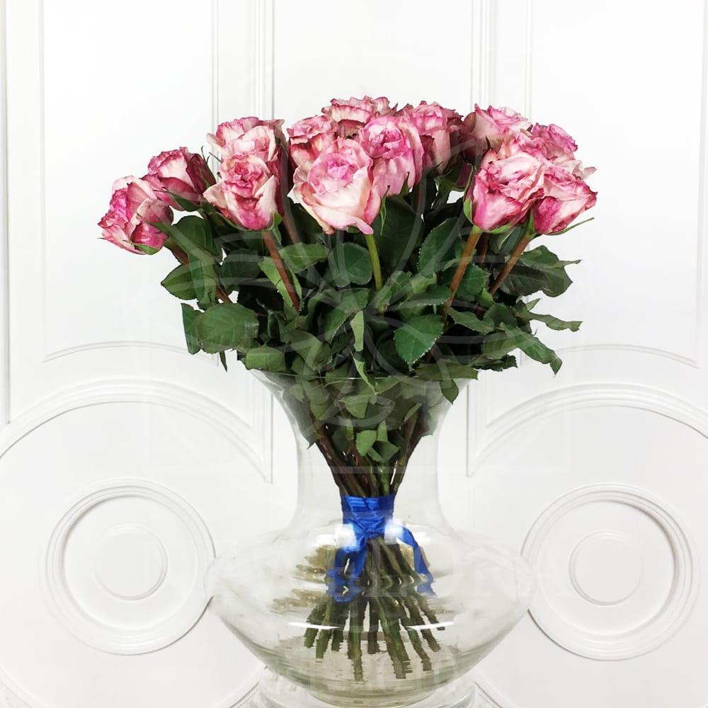 Букет 25 ароматных пионовидных роз Pink Ohara