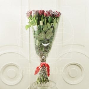 Букет 25 красных снежных роз