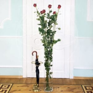 Стеклянная напольная ваза-цилиндр (высота 100см)