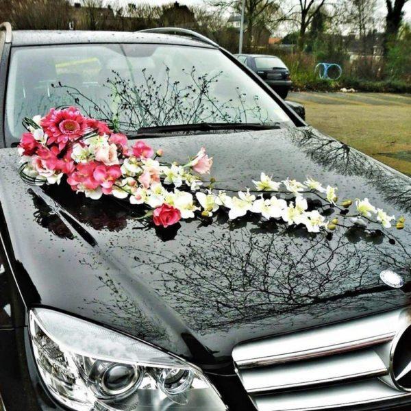 шеи свадебные украшения на машину своими руками фото вид