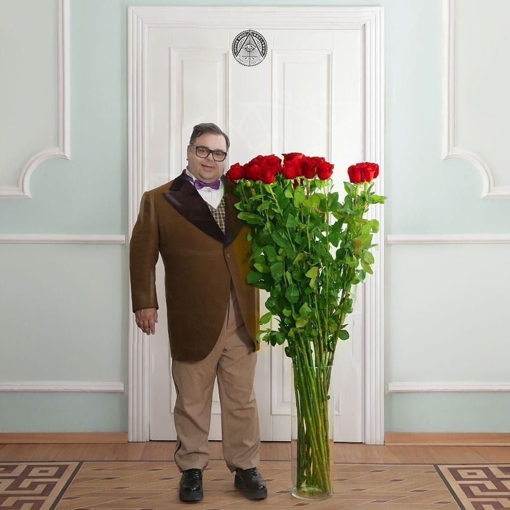Красные розы высотой 150см поштучно