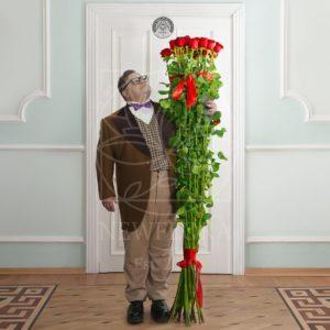 Букет 25 красных роз высотой 200см (by Сергей Рост)