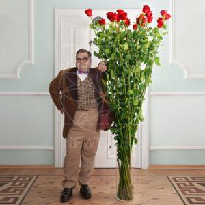 Букет 25 красных роз высотой 220см (by Сергей Рост)