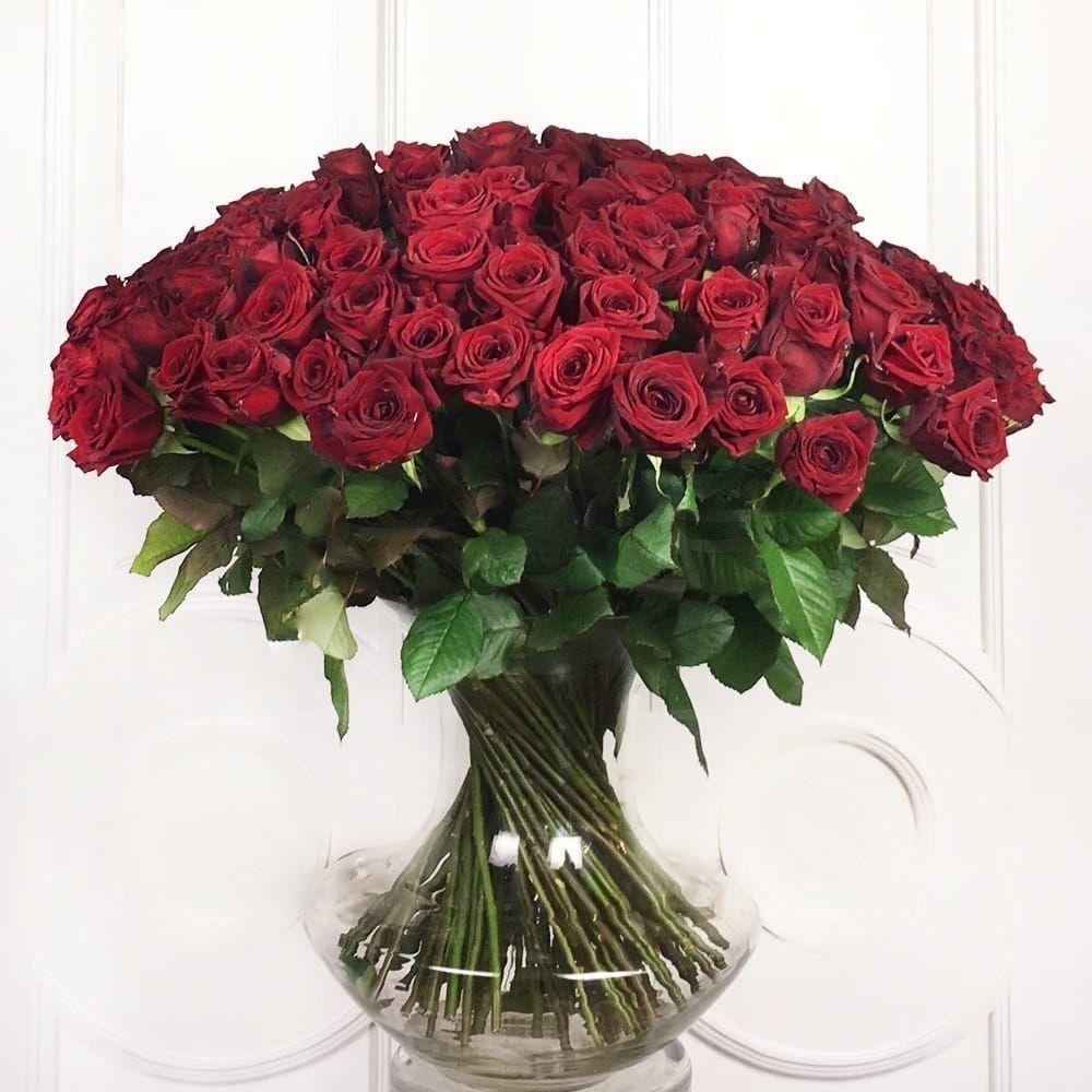 Букет 101 красная роза РФ