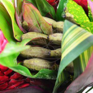 Экзотический букет с имбирем и плодами банана