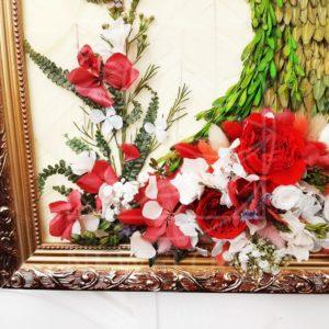 Портрет из стабилизированных цветов #2