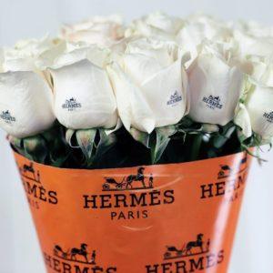 Букет 11 белых роз Hermes