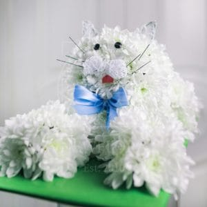 Игрушка из цветов кошка