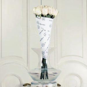Букет 11 белых роз Mercedes-Benz