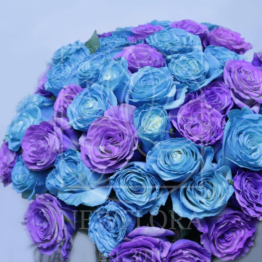 Букет 51 роза хамелеон