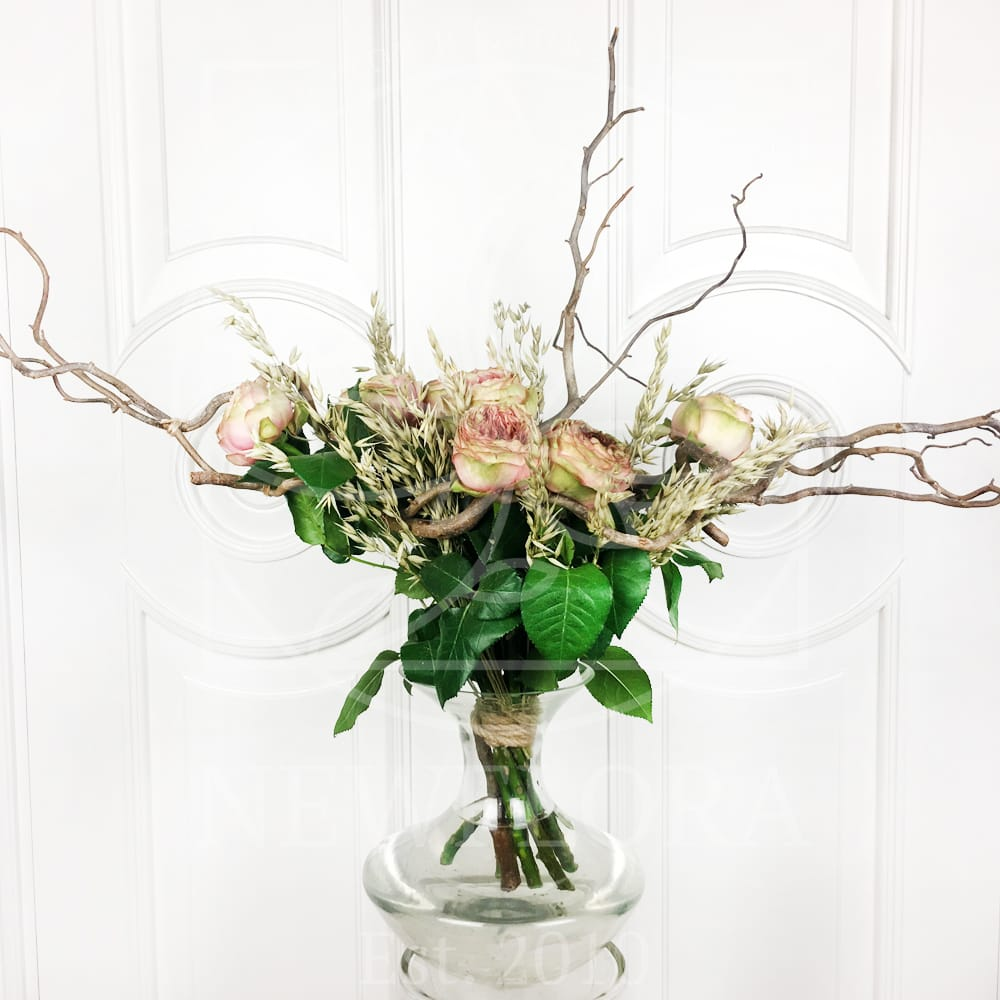 Авторский букет из 7 пионовидных роз Pride of Jane
