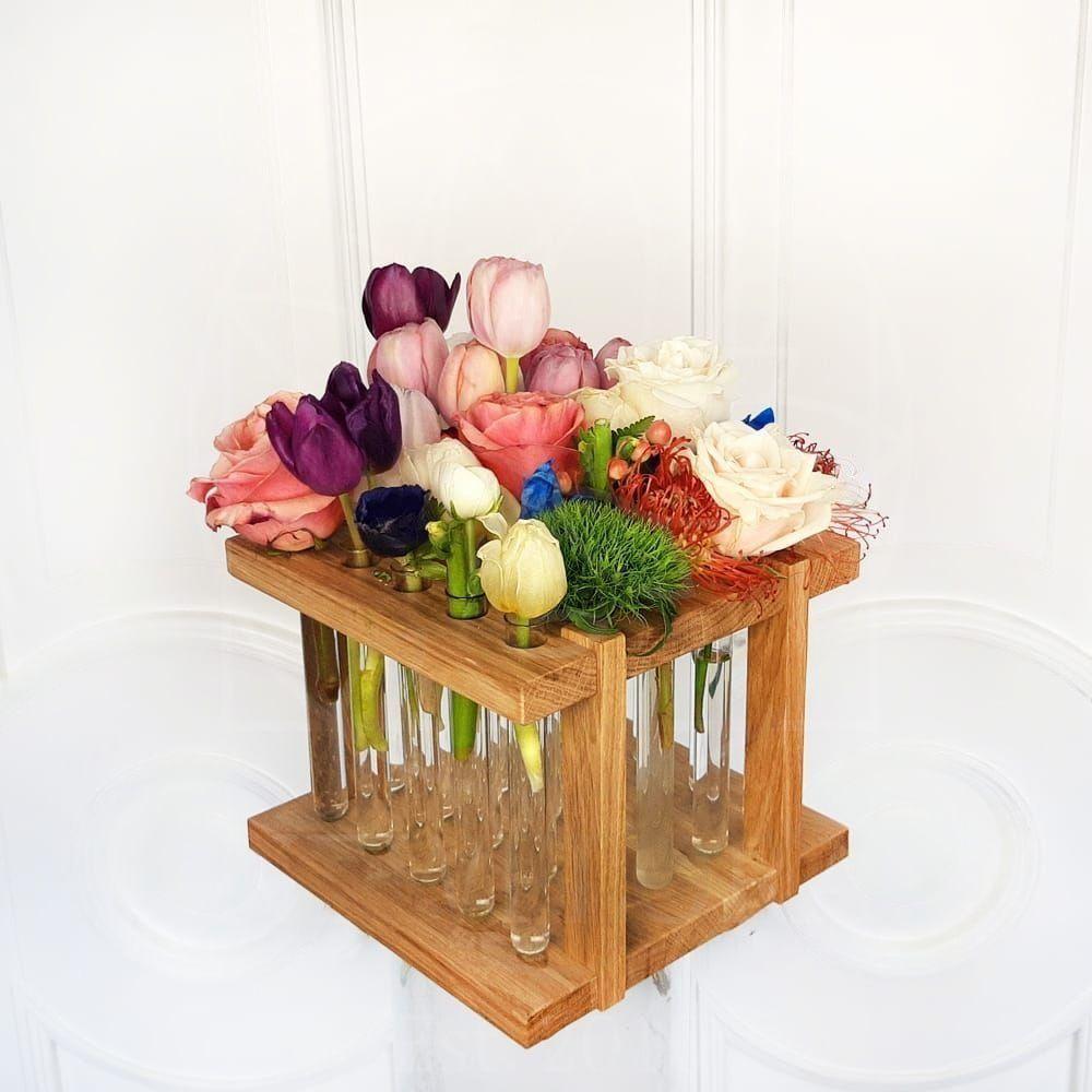 Микс 25 цветов в подставке с пробирками