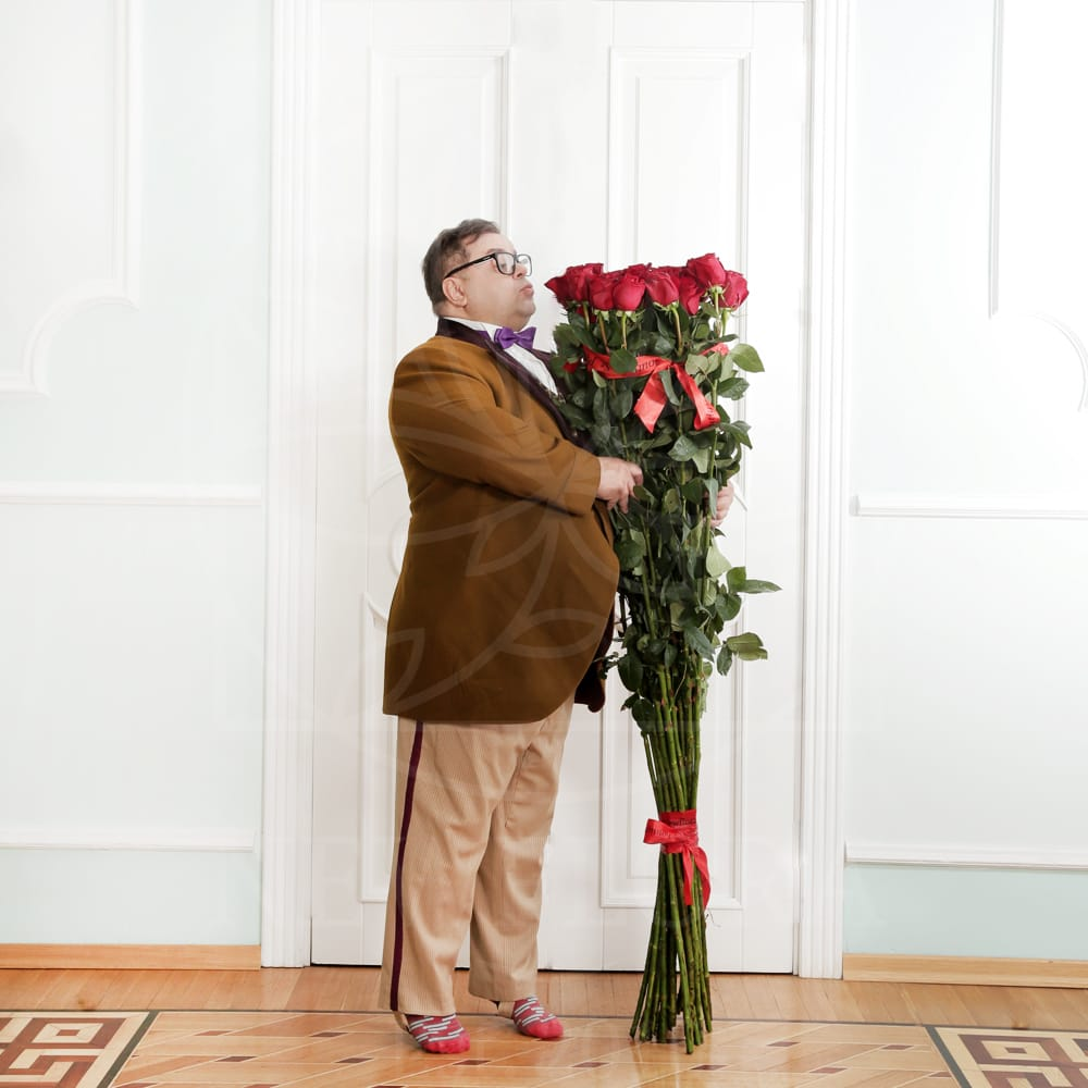 Красные розы высотой 160см поштучно