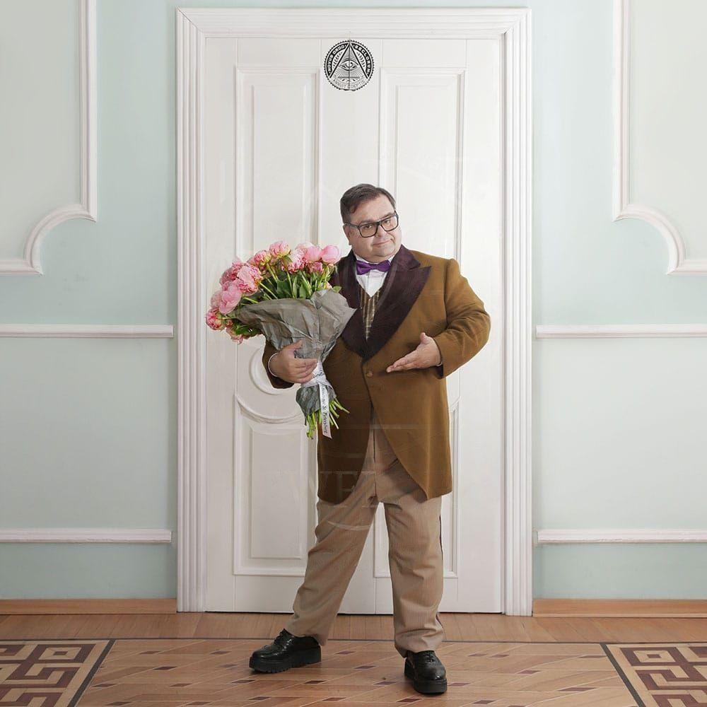 Букет 21 большой отборный розовый пион от Сергея Роста