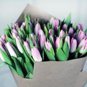 Букет 51 светло розовый тюльпан