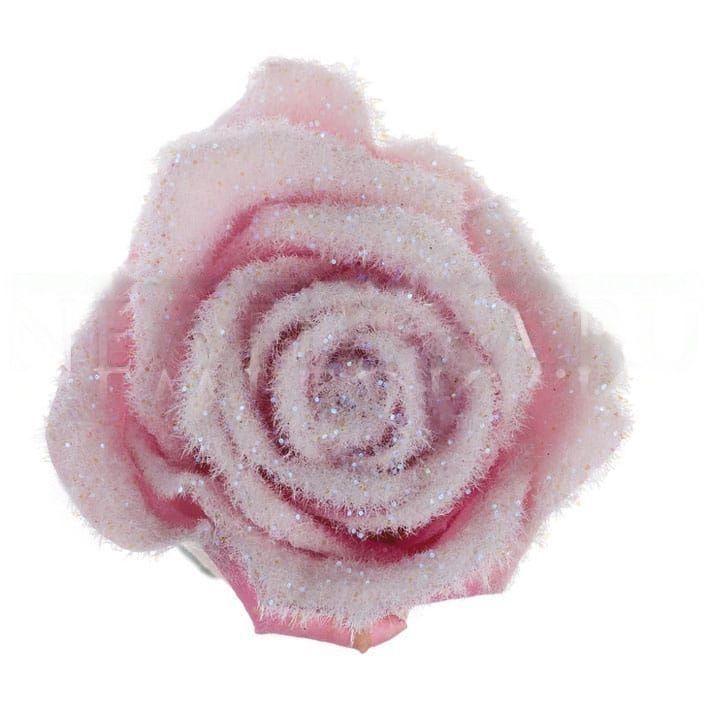 Розовые снежные розы (под заказ)