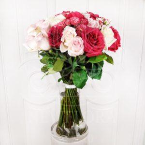 Букет 51 кустовая и одноголовая роза