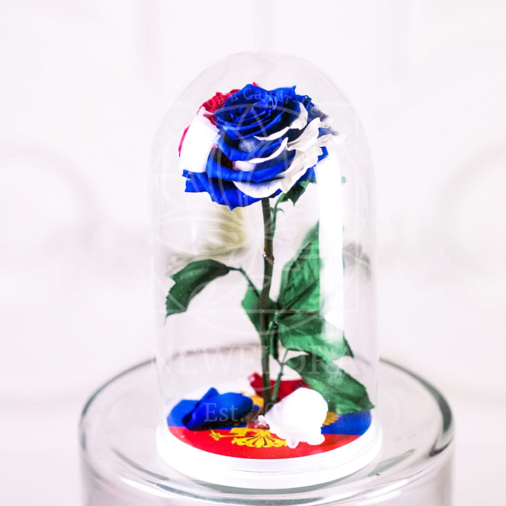 Роза в колбе Триколор РФ