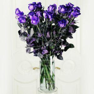 25 фиолетовых роз (Premium) в вазе