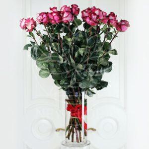 21 роза 80см сорт Iguazu (Premium) в вазе