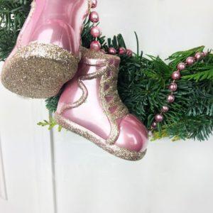 Новогодний венок с туфельками